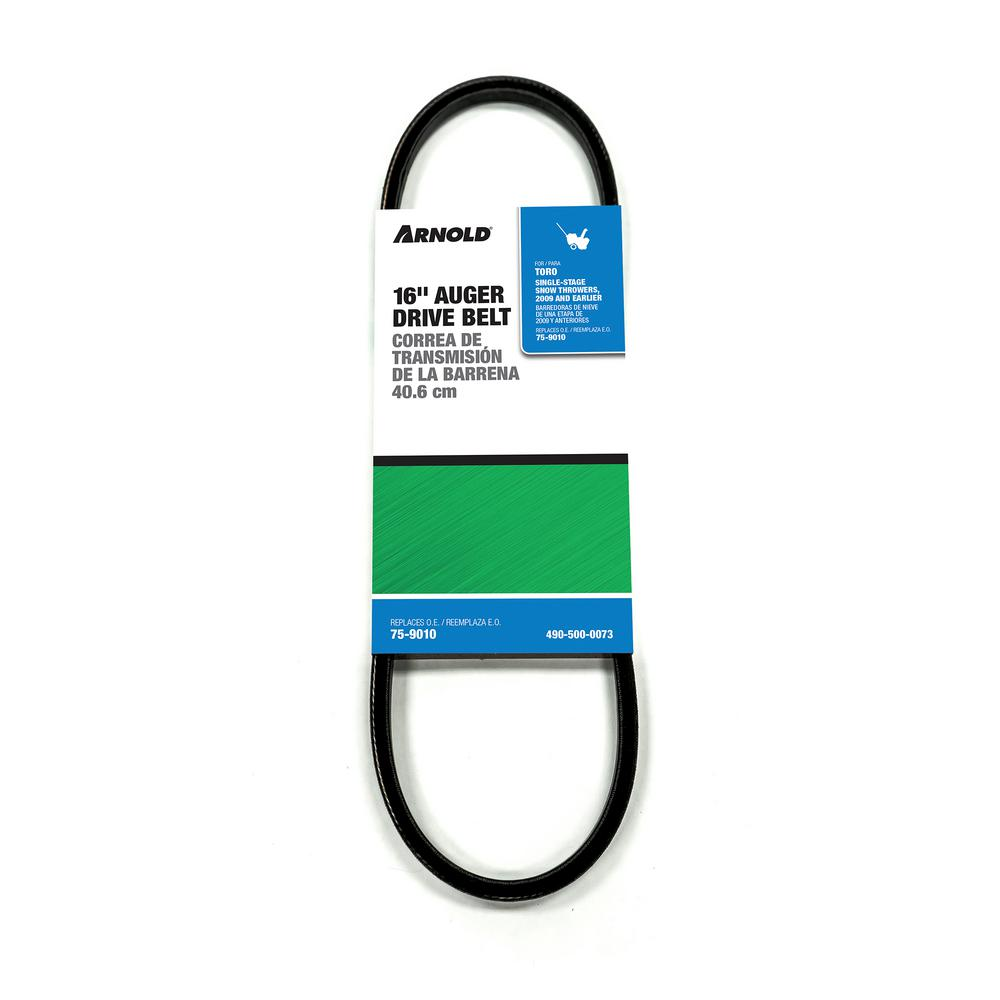 Auger Drive Belt For Single Stage Snow Throwers