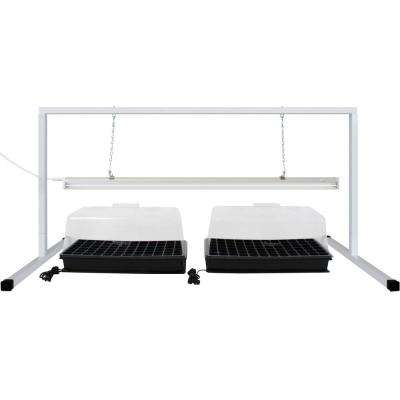 4 ft. White Steel Plant Propagation Station Stand