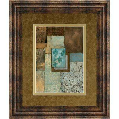 """34 in. x 40 in. """"Petites Fleurs Sur Le Bleu I"""" by Norm Olson Framed Printed Wall Art"""