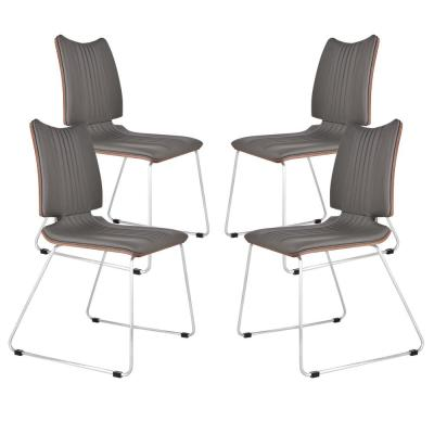 Borna Gray Dining Chair (Set of 4)