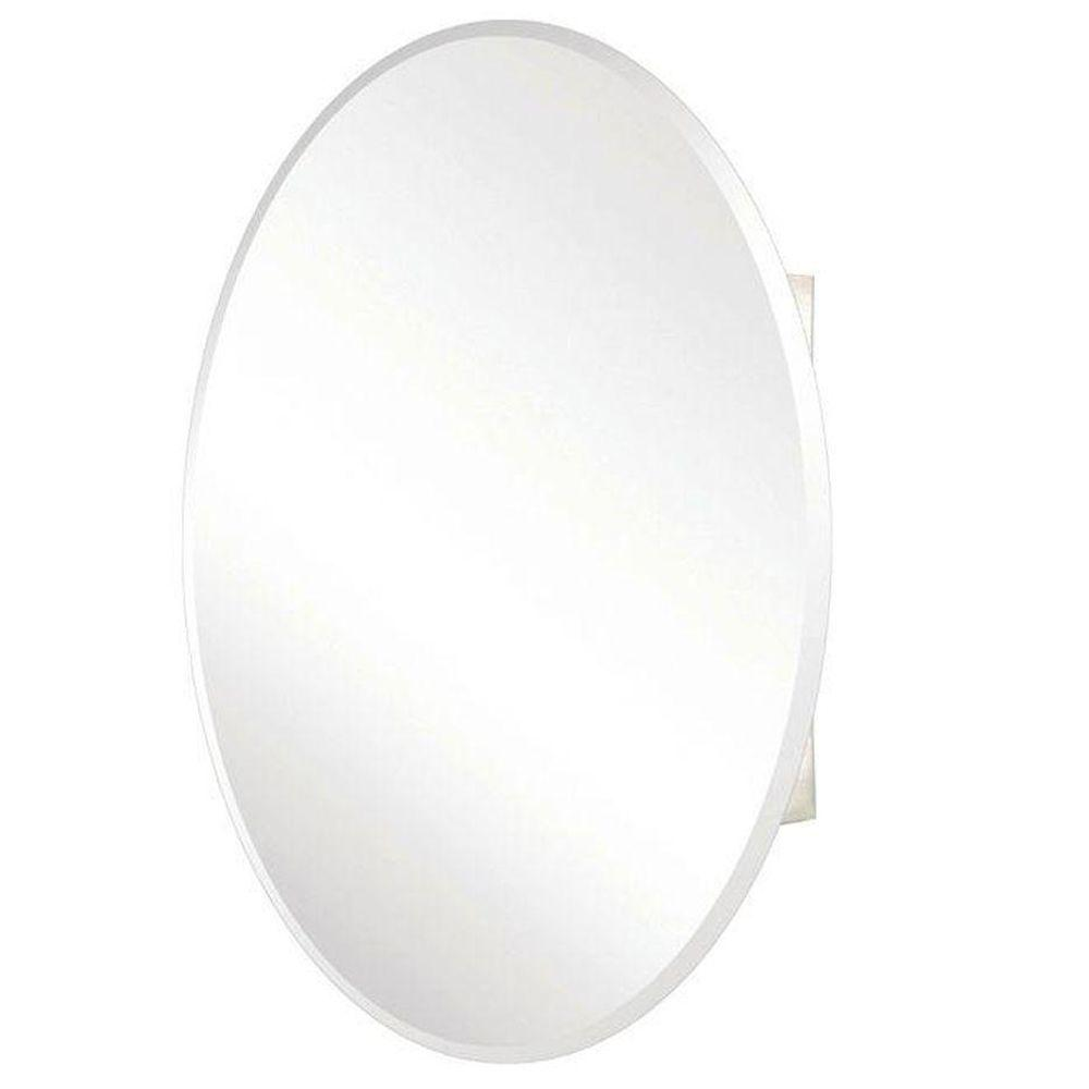 Recessed Or Surface Mount Oval Bathroom Medicine