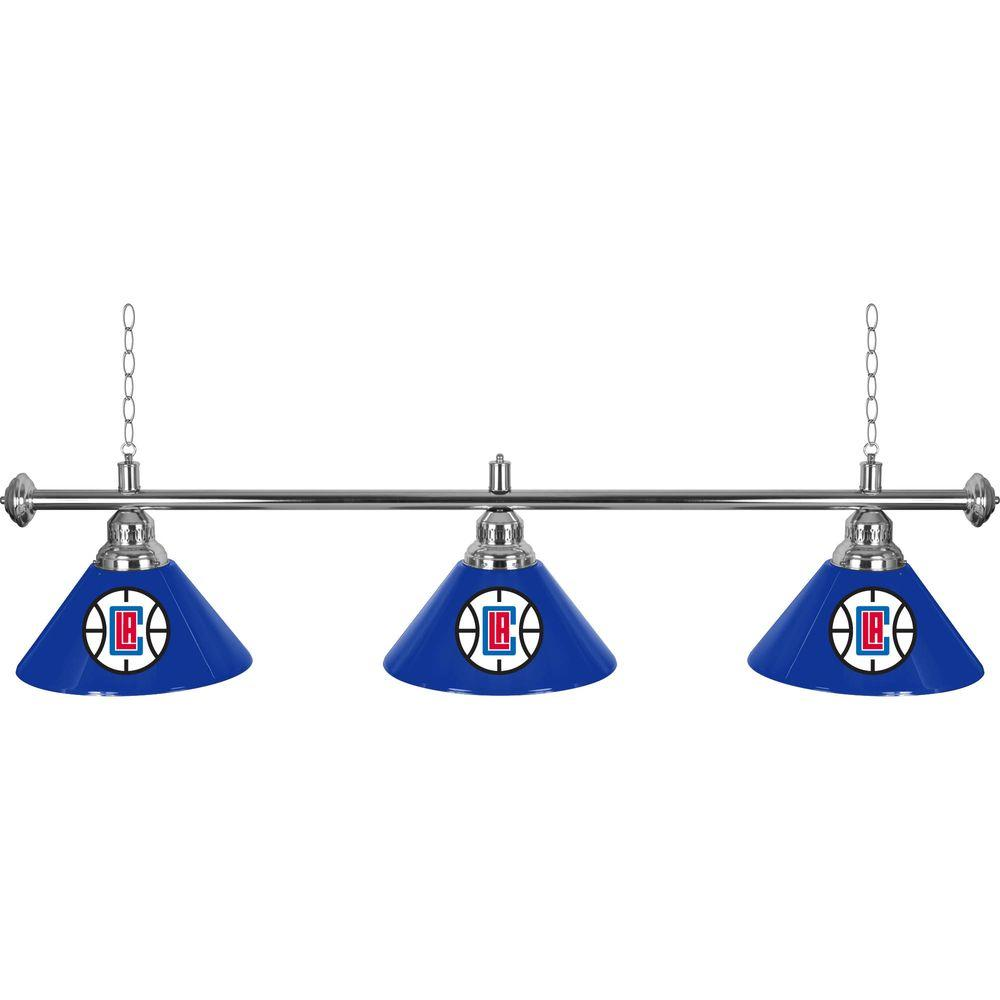 NBA 3-Light Los Angeles Clippers Billiard Lamp
