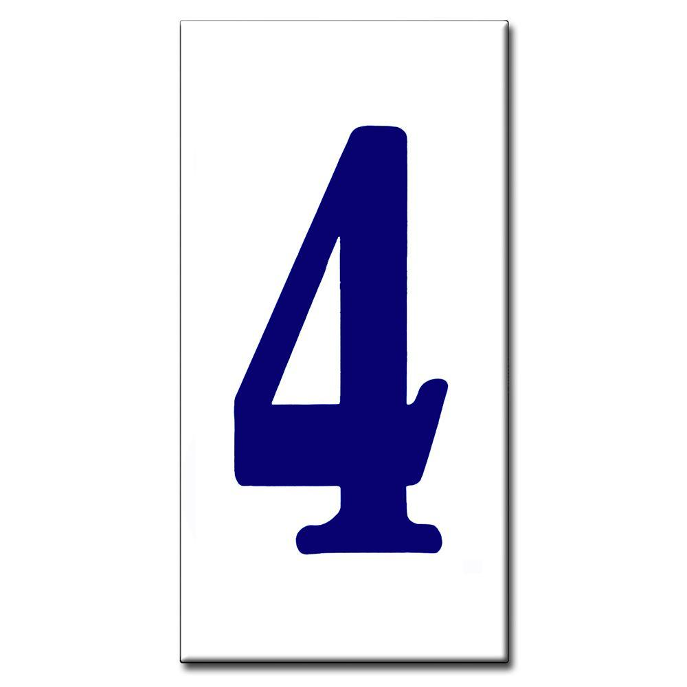 null 2 in. x 4 in. Blue Standard Number 4