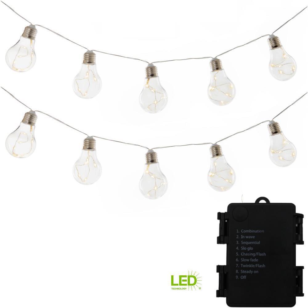 Cordless Edison Bulb Lamp: Wireless 10-Light 9 Ft. Integrated LED Edison Bulb String