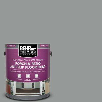 1 gal. #MS-82 Cobblestone Grey Textured Low-Lustre Enamel Interior/Exterior Porch and Patio Anti-Slip Floor Paint