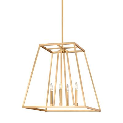 Conant 4-Light Gilded Satin Brass Chandelier