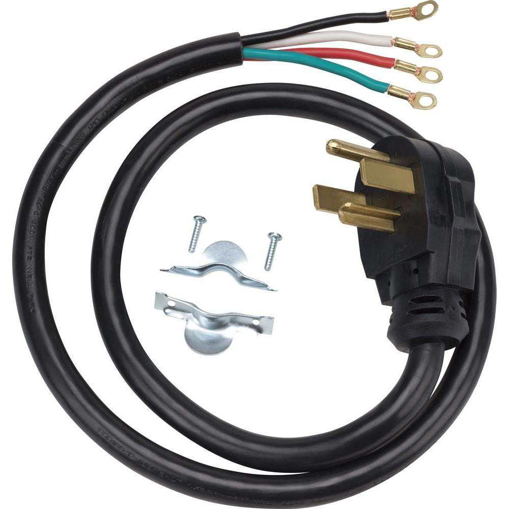 Ge 4 Ft 4prong 30 Dryer Cordwx09x10018ds The Home Depot. 4prong 30 Dryer Cord. Wiring. Us Dryer Outlet Wiring At Scoala.co