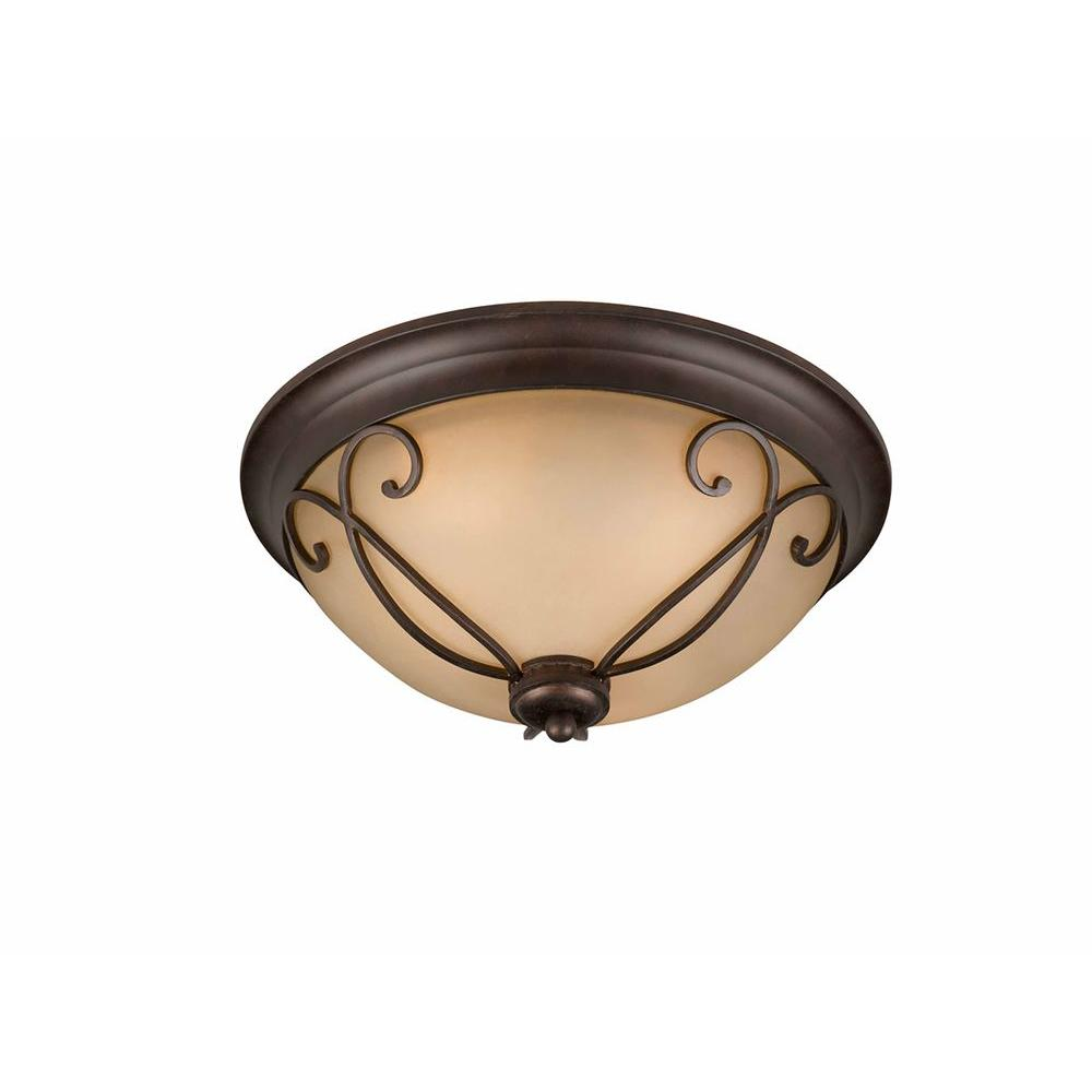 Charry 3-Light Bronze Flushmount