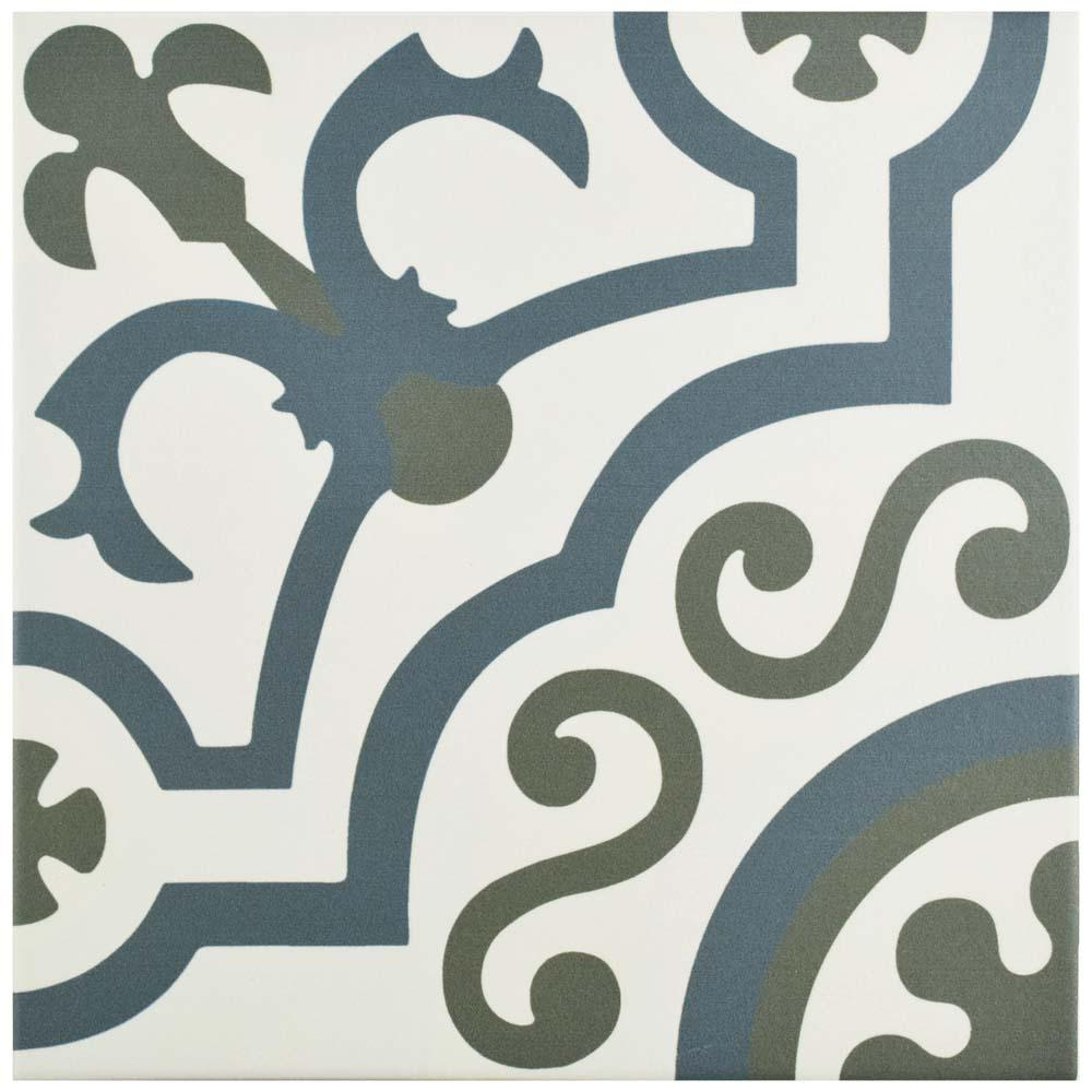 Hidraulico Ducados 9-3/4 in. x 9-3/4 in. Porcelain Floor and Wall