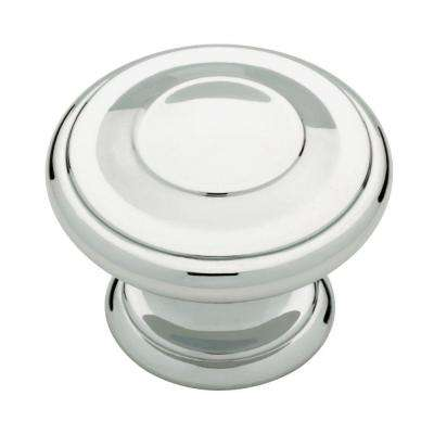 Harmon 1-3/8 in. (35mm) Polished Chrome Round Cabinet Knob