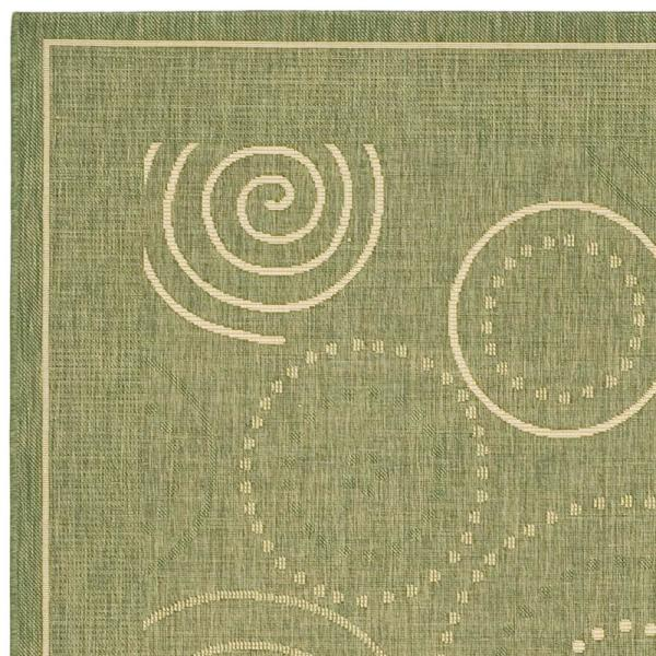 Reviews For Safavieh Courtyard Olive Natural 7 Ft X 10 Ft Indoor Outdoor Area Rug Cy1906 1e06 6 The Home Depot