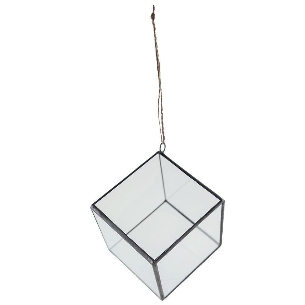 Syndicate Home Garden 4 In Geometric Terrarium Crystal Glass Cube