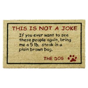 Rubber-Cal Bring a 5 lb. Steak 30 inch x 18 inch Dog Door Mat by Rubber-Cal