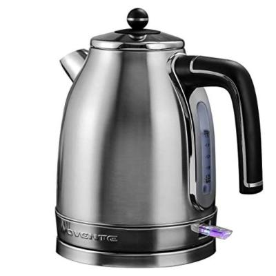 7-Cup Silver Electric Kettle Stainless Steel Removable AntiScale Filter Centered Water Gauge