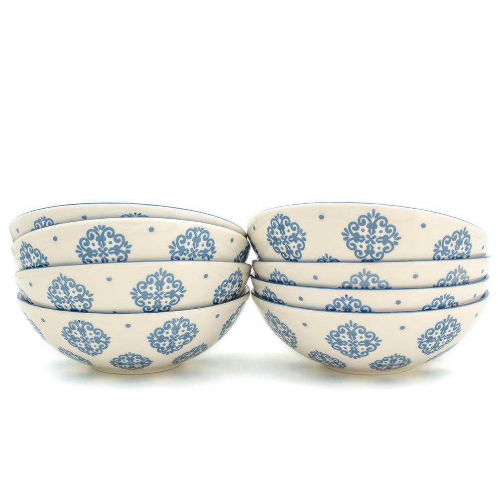 Alfama 8-Piece Blue Dining Bowl Set