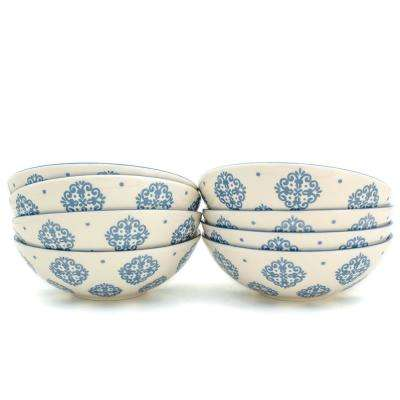 Alfama 8-Piece Blue Dining Bowl Set