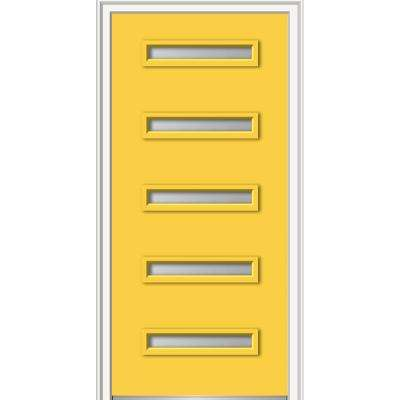 32 in. x 80 in. Davina Low-E Glass Right-Hand Inswing  sc 1 st  The Home Depot & Yellow - 3 Panel - Doors u0026 Windows - The Home Depot