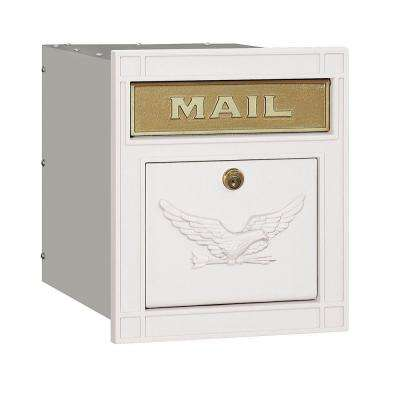 4100 Series 11.5 in. W x 13.25 in. H x 15.75 in. D White Locking Eagle Door Cast Aluminum Column Mailbox