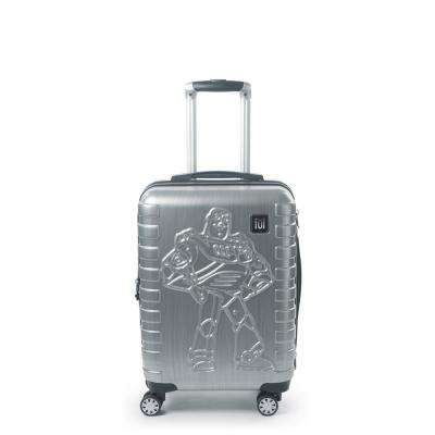 Disney Pixar Toy Story 4 Buzz Lightyear 22 in. Silver Spinner Suitcase