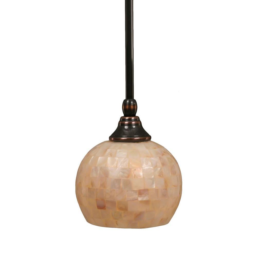 concord 1light black copper pendant filament
