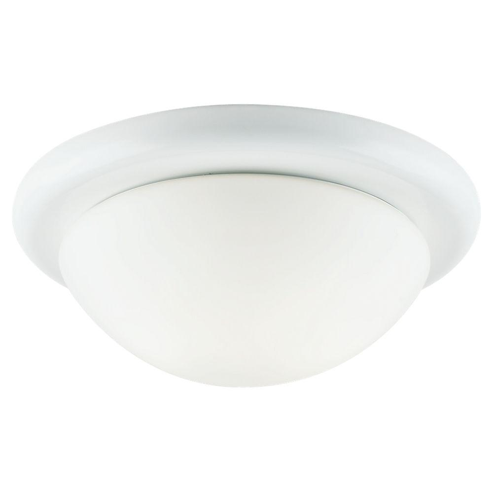 Sea Gull Lighting Twist-Lock Fitters 3-Light White Flush Mount Fixture-DISCONTINUED