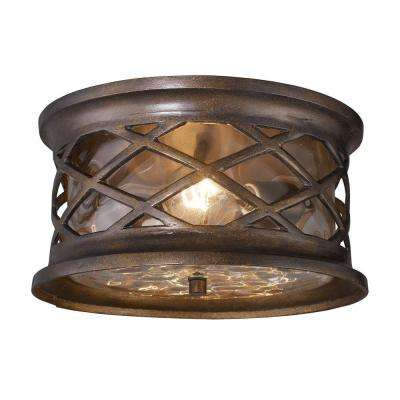 Barrington Gate 2-Light Hazelnut Bronze Outdoor Flushmount
