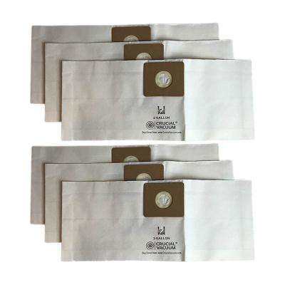 Type B 2 Gal. Bags Replacement for Shop-Vac, Compatible with Part SV-9066800 (6-Pack)
