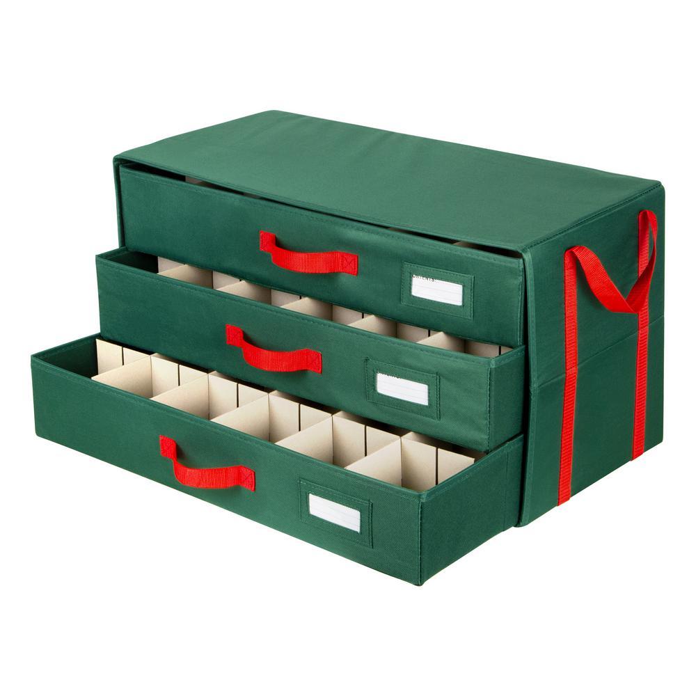 25 in. x 13 in. x 13.5 in. Green Drawer Organizer