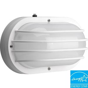 Progress Lighting Polycarbonate Collection 2-Light Outdoor White Wall Lantern by Progress Lighting