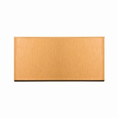 Short Grain 6 in. x 3 in. Brushed Copper Metal Decorative Wall Tile (8-Pack)