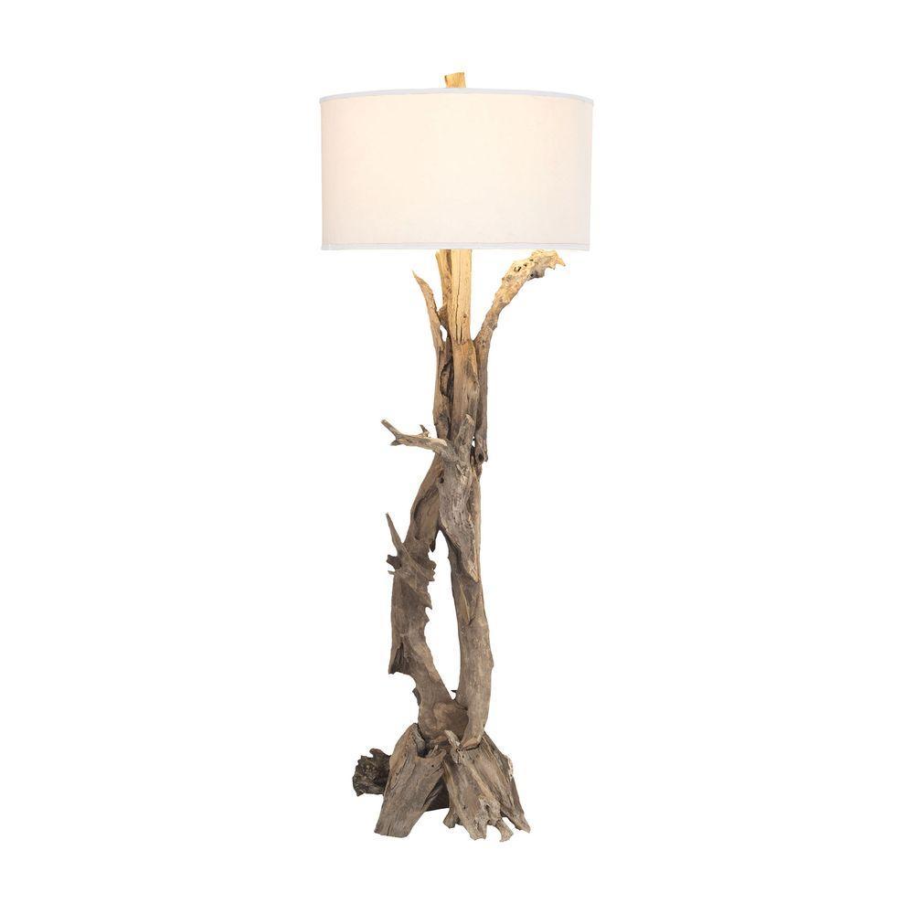 Natural Teak Root Floor Lamp