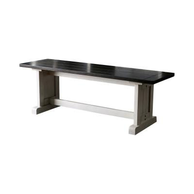 Wellesley Espresso Trestle Dining Bench