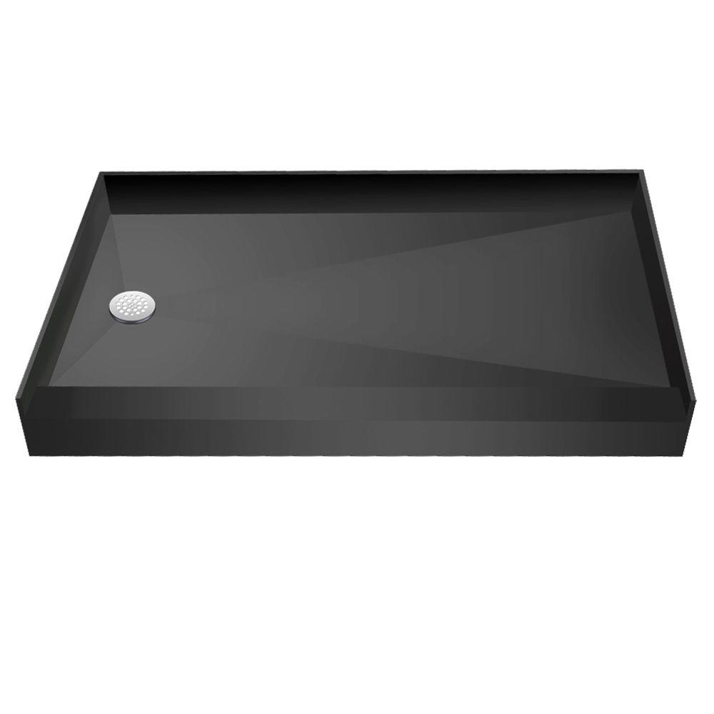 33 in. x 60 in. Single Threshold Shower Base with Left
