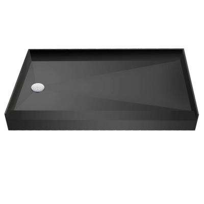 33 in. x 60 in. Single Threshold Shower Base with Left Drain