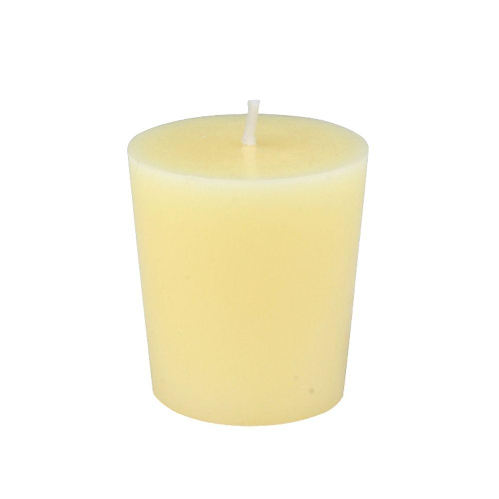 1.75 in. Ivory Votive Candles (12-Box), Beige / Ivory