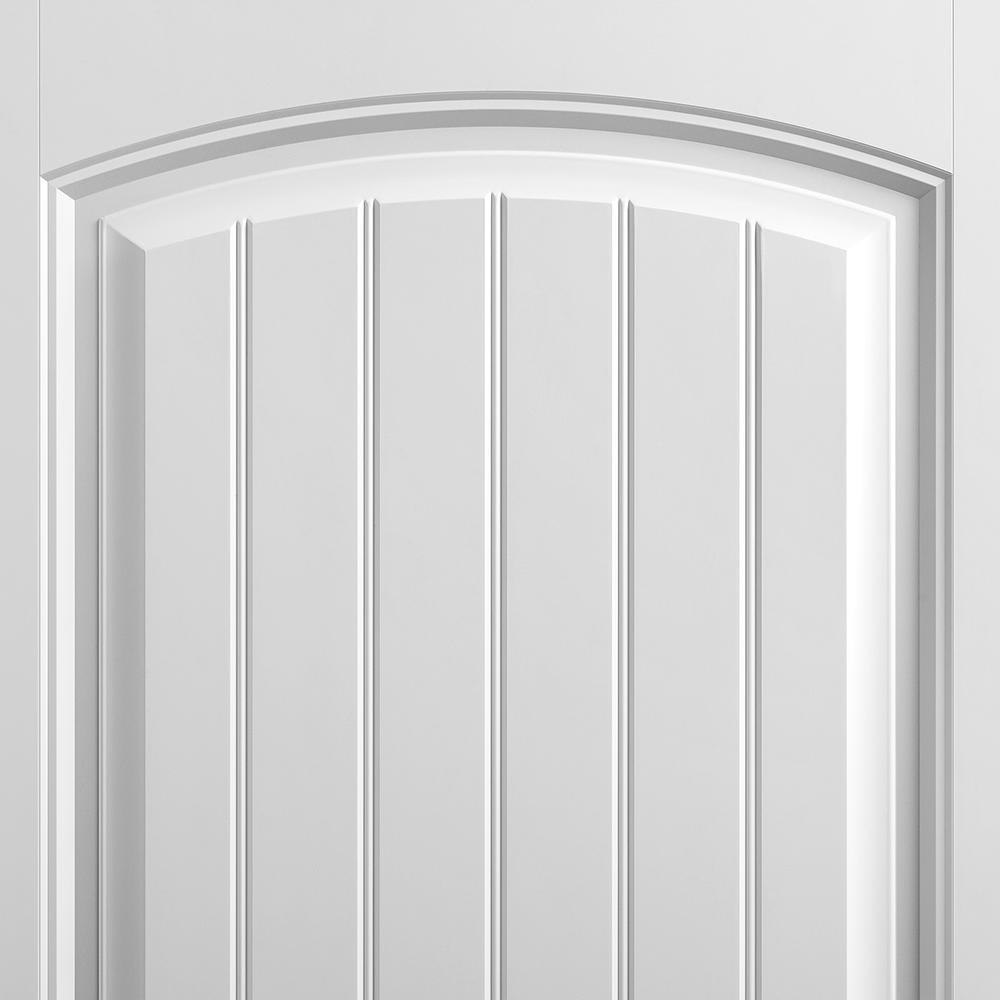 Masonite 30 In X 80 In Cheyenne Smooth 2 Panel Camber Top Plank Hollow Core Primed Composite Interior Door Slab