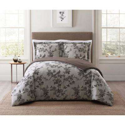 Lisborn Brown Multi Full and Queen XL Comforter Set