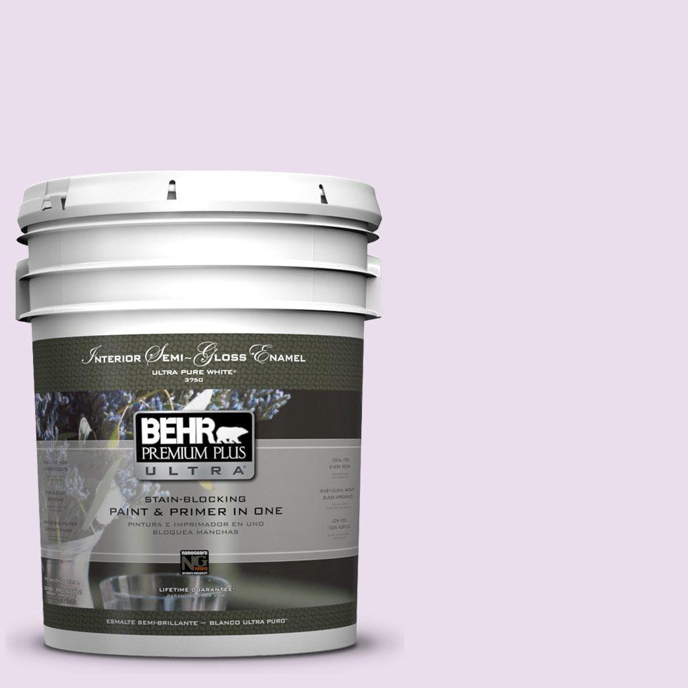 BEHR Premium Plus Ultra 5-gal. #650A-2 Ice Ballet Semi-Gloss Enamel Interior Paint, Reds/Pinks