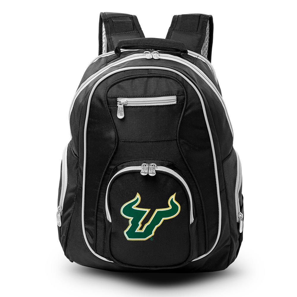 NCAA South Florida Bulls 19 in. Black Trim Color Laptop Backpack