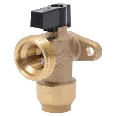 1/2 in. x 3/4 in. Brass Push-to-Connect Washing Machine Angle Valve
