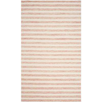 Dhurries Rust/Ivory 4 ft. x 6 ft. Area Rug