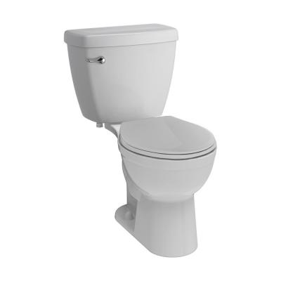 Foundations 2-piece 1.28 GPF Single Flush Round Front Toilet in White