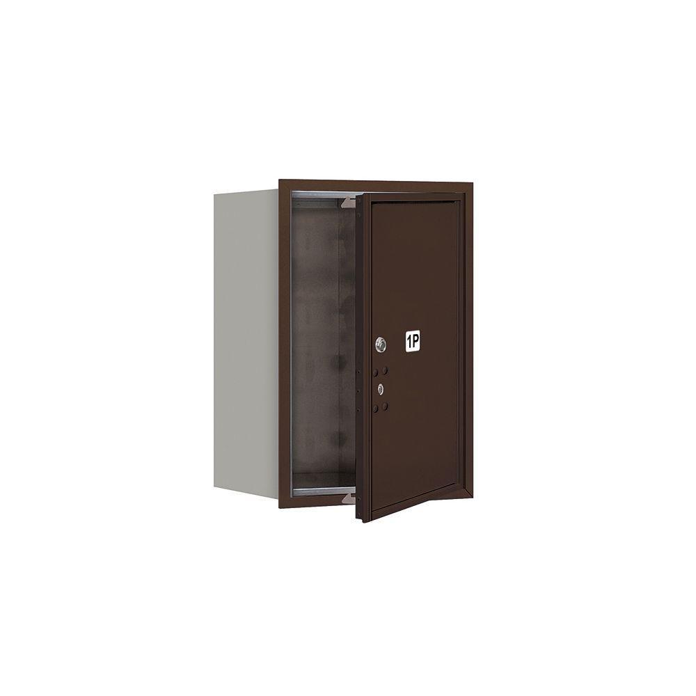 Salsbury Industries 3700 Series Usps Front Loading 6 Door High Unit 23 1 2 In Parcel Locker 1 Pl6 4c Horizontal Mailbox In Bronze 3706s 1pzfu The Home Depot
