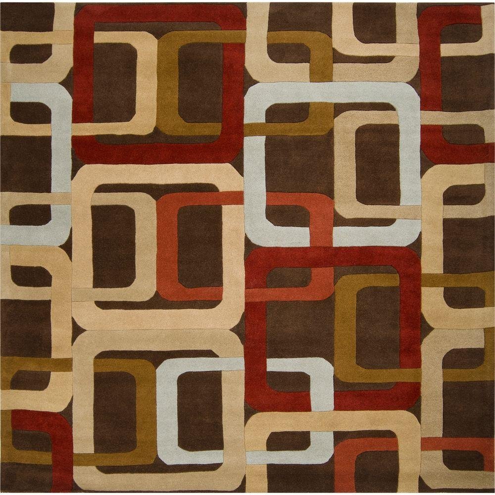 Michael Brown 6 ft. Square Area Rug
