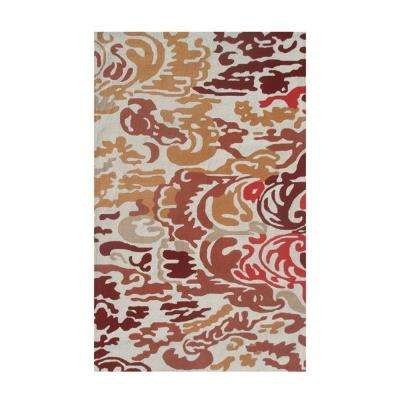 Niigata Red 8 ft. x 10 ft. Indoor Area Rug