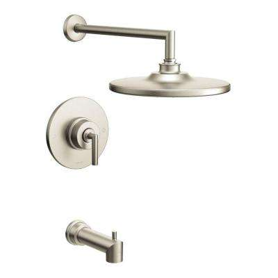 Arris Posi-Temp Single-Handle 1-Spray Tub and Shower Faucet Trim Kit in Brushed Nickel (Valve Not Included)