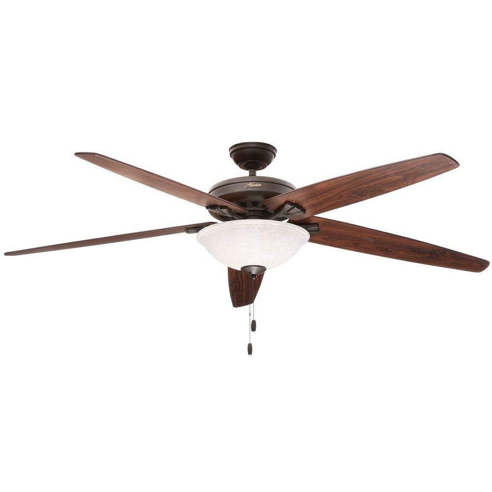 Superb Hunter Stockbridge 70 In. Indoor New Bronze Ceiling Fan With Light