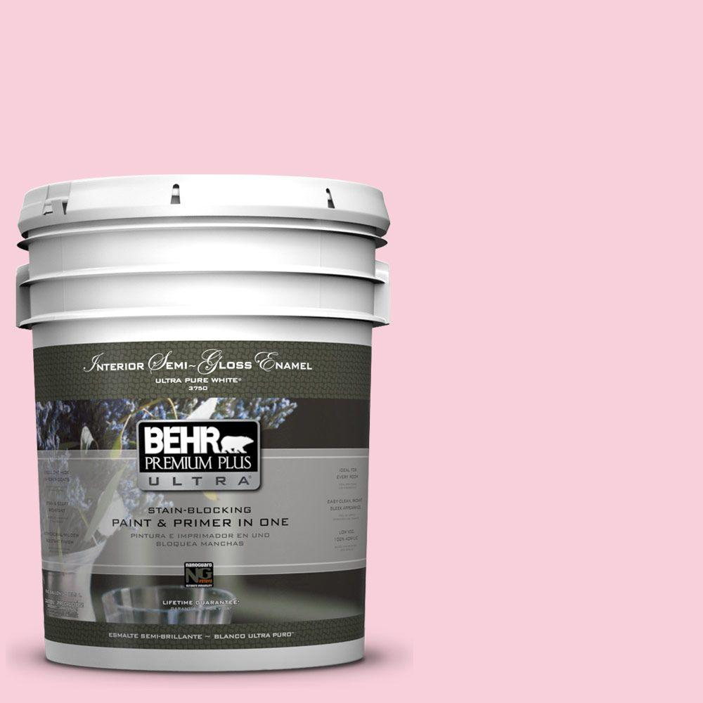 BEHR Premium Plus Ultra 5-gal. #120C-1 April Blush Semi-Gloss Enamel Interior Paint