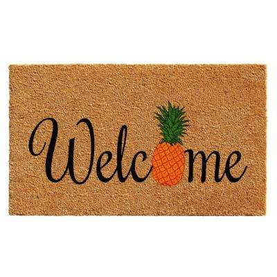 Pineapple Fun Door Mat 17 in. x 29 in.