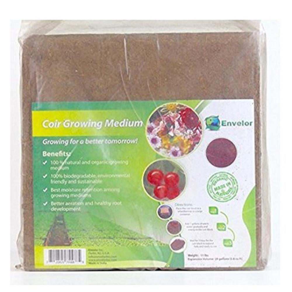 10 lbs. Organic Coco Block Coir Brick Potting Soil (2-Pack)